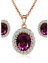 Pentru femei Cristal Set bijuterii - Cristal, Zirconiu Cubic, Diamante Artificiale Plin de graţie Include Pentru Nuntă / Petrecere / Zilnic