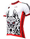 ILPALADINO Men\'s Short Sleeve Cycling Jersey - White Animal Bike Jersey Top Breathable Quick Dry Ultraviolet Resistant Sports Polyester 100% Polyester Terylene Mountain Bike MTB Road Bike Cycling