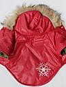 Pisici Câine Haine Hanorace cu Glugă Îmbrăcăminte Câini Cosplay Fulg zăpadă Rosu Costume Pentru animale de companie