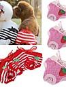 Katt Hund Byxor Hundkläder Cosplay Bröllop Prickig Rosett Röd Rosa Kostym För husdjur