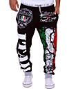 Bărbați Activ Bumbac Larg Larg Activ Pantaloni Sport Pantaloni Chinos Relaxat Pantaloni - De Bază, Imprimeu Dungi Scrisă