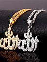 Dame Coliere cu Pandativ Zirconiu Cubic Zirconiu Zirconiu Cubic Placat Auriu Iubire bijuterii de lux costum de bijuterii Bijuterii Pentru