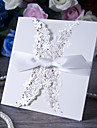 Tri-Fold Wedding Invitations 50 - Invitation Cards Card Paper Ribbons