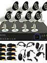 twvision® 8ch 960h hdmi CCTV dvr 8x utomhus 800tvl säkerhet kamerasystem