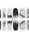 Autocollants 3D pour ongles - Doigt - en Bande dessinee/Adorable - 15*7.5*0.1