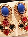 Pentru femei Zirconiu Cubic Placat Auriu Cercei Picătură - Modă Pentru Zilnic