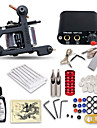 Tattoo Machine Startkit - 1 pcs tattoo maskiner med 1 x 15 ml tatovering blekk, Profesjonell Mini stroemforsyning No case 1 x stoepejern tatoveringsmaskin til lining og skyggelegging