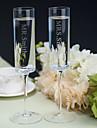 Sticlă fără Plumb Prăjire Flutes 1 Personalizat Cutie de Cadouri