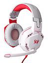 fiecare căști cu fir de 3,5 mm G2000 peste control al volumului de jocuri ureche cu microfon pentru PC