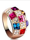 Inele Midi Cristal Zirconiu Cubic Ștras Aliaj La modă Clasic bijuterii de lux Curcubeu Bijuterii Petrecere 1set