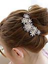 Pentes Acessorios de cabelo Pedras preciosas sinteticas Liga perucas Acessorios Mulheres 2pcs pcs 11-20cm cm Diario Classico Alta