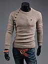 Herr Klassisk & Tidlös Pullover - Enfärgad, Artistisk Stil