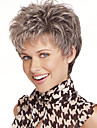 Perruque Synthetique Ondulation Naturelle Style Coupe Lutin Sans bonnet Perruque Gris Gris Cheveux Synthetiques Femme Gris Perruque Court StrongBeauty Perruque Halloween