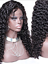 Human Hair Unprocessed Human Hair Glueless Lace Front Lace Front Wig Brazilian Hair Curly Wig 130% Density with Baby Hair Natural Hairline African American Wig 100% Hand Tied Women\'s Short Medium