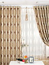 Blackout Curtains Drapes Living Room Stripe Polyester Jacquard