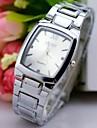Bărbați Simulat Diamant Ceas Ceas de Mână Quartz Ceas Casual Oțel inoxidabil Bandă Charm Argint
