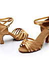 Pentru femei Pantofi Dans Latin / Sală Dans Mătase Sandale / Adidași Cataramă / Legătură Panglică Toc Personalizat Personalizabili