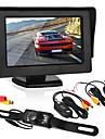Auto omkeerbewaking4,3 inch display / geleide licentie camera / draadloze zender en ontvanger