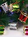12 قطع 2.5 سنتيمتر الملونة الجانب طبل أشجار عيد الميلاد و حزب الديكور
