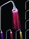 un ABS de qualite changeant de couleur chrome LED Pomme de douche pluie