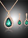 Seturi de bijuterii Draguț Petrecere Cute Stil Petrecere Piete Prețioase & Cristal Pietre sintetice Ștras Placat Cu Aur Roz Aliaj Picătură