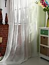 Două Panouri Tratamentul fereastră Țara Modern Neoclasic , Solid Dormitor Amestec de In/ Poliester Material Sheer Perdele ShadesPagina de