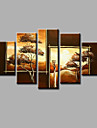 Pictat manual Peisaj orice formă, Modern pânză Hang-pictate pictură în ulei Pagina de decorare Cinci Panouri