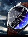 YAZOLE Bărbați Ceas de Mână Quartz Cronograf Rezistent la Apă Piele Bandă Negru Maro Maro Negru/Alb Maro/Alb