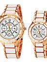 Bărbați Pentru femei Pentru cupluri Ceas de Mână Quartz Alb cald Vânzare Analog Charm Modă Ceas Elegant - Auriu / Alb