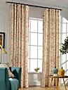 Hyls-topp Dubbel veckad Två paneler Fönster Behandling Moderna Nyklassisistisk Land, Tryck Sovrum Polyester Material gardiner draperier