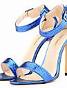 Pentru femei Pantofi Imitație de Piele Vară Toc Stilat Negru / Alb / Auriu / Leopard / Party & Seară / Party & Seară