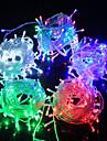100 LED Blanc Chaud Violet Vert Bleu Rechargeable Impermeable Couleurs changeantes AC100-240 CA 100-240V