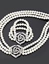 Pentru femei Altele Set bijuterii Coliere / Brățări - Regulat Alb Pentru Nuntă / Petrecere / Ocazie specială