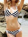 Dame Nailon Sutiene cu Întăritură Cu Susținere,Bikini Geometrică Cu Dungi