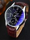YAZOLE Bărbați Ceas de Mână Quartz Quartz Japonez Piele Bandă Casual Maro Alb Negru Albastru Negru Negru/Alb