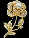 Dame Broșe Stil Floral Flori La modă bijuterii de lux Floral Perle Diamante Artificiale Flower Shape Rose Bijuterii Pentru Nuntă