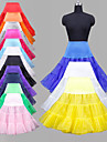 Wedding Special Occasion Party / Evening Daily Slips Polyester Organza Tulle Lycra Knee-Length Ball Gown Slip Classic & Timeless with Dyed