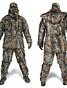 Hunting Jacket with Pants Men\'s Waterproof / Thermal / Warm / Shockproof Classic / Fashion / Camouflage Fleece Winter Jacket / Top / Clothing Suit Long Sleeve for Hunting / Fishing