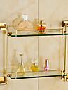 浴室棚 コンテンポラリー 真鍮 ガラス 1枚 - ホテルバス