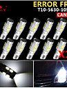 SO.K 10pcs T10 Bilar Glödlampor 3 W SMD 5630 300 lm 10 LED Blinkers For Universell