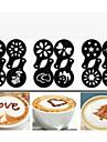 Stencil Dagligen Resor Kaffe Originella Tecknat,Plast
