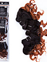 Brasilianskt hår Lockigt / Klassisk Obehandlad hår Nyans 3 paket 8tum Hårförlängning av äkta hår 7a