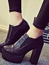 Damă Pantofi Imitație de Piele Primăvară Toamnă Confortabili Chelsea boot- Toc Stiletto Pentru Casual Rochie Negru