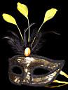 Înger & Demon Mască Mascaradă Unisex Halloween Carnaval Festival/Sărbătoare Costume de Halloween Auriu+Negru Peteci
