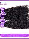 Tissages de cheveux humains Cheveux Malaisiens Très Frisé 6 Mois 3 Pièces tissages de cheveux