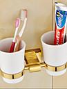 Tandborstskopp Nyklassisistisk Mässing 1 st - Hotellbad