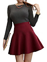 Femei elegant talie înaltă solid Culoare fusta