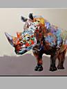Peint a la main Animal Format Horizontal,Moderne Un Panneau Peinture a l\'huile Hang-peint For Decoration d\'interieur