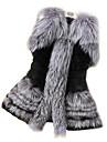 blană de vulpe faux vesta de blană haina de iarna femei