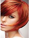 Sintetičke perike Ravan kroj Stil Capless Perika Crvena Crvena Sintentička kosa Crvena Perika Kratko